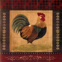 Art Mural Ceramic Rooster Backsplash Bath Tile #142   230860014033