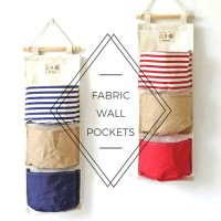 3 Pocket Fabric Hanging Organizer And Wall Storage For Your Sundries   272467813555