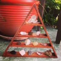 A Bodhi Leaf Market Favorite!  Triangle Shelf complete with 13 crystals, Goddess   263338632751
