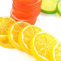 1/10/50pcs Artificial Plastic Lemon Slices Lifelike Decorative Fake Fruit New   182962815129