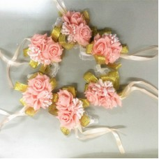 4X Bridesmaid Wrist Flowers Petals Wedding Sisters Decor Hand Garlands Yard Home   263745627274