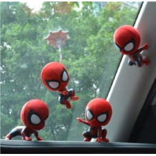 Car Ornament Magnetic Toy For Spiderman Shaking Head Model Car Home Decor   222947601352