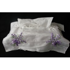 French Country Inspired Embroidered Satin Assort Colours Lavendar Tissue Box ...   162249973849