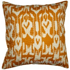 "16"" Cotton Handmade Brown Cushion Pillow Cover Ikat & Kantha Work Throw INDIA   252160934409"