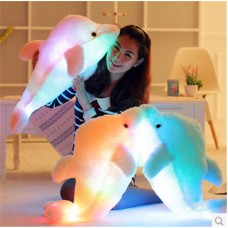 17'' Led Light Supper Sparkling Dolphin Plush Stuffed Toys Pillow Birthday Gift   113202663479