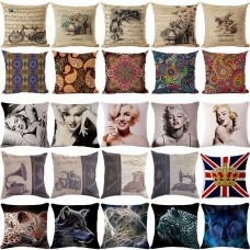 "18"" Square Bohemian Vintage Cotton Linen Pillow Cover Cushion Cover Throw Pillow   291823984176"