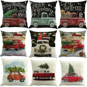 Christmas Throw Waist Pillow Case Cotton Linen Cushion Cover Sofa Car Home Decor   352205349525