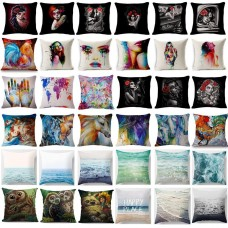 Home Sofa Decoration Cotton Linen Pillow Cases Throw Pillow Square Cushion Cover   252450147033