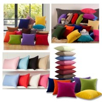 New Solid Colors 100% Cotton Cushion Cover Home Decor Sofa Car Throw Pillow Case   272932070798