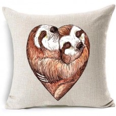 "Sloth Love Pillow Case Cotton Linen Cover Square Cushion Cover 18""    113200217017"