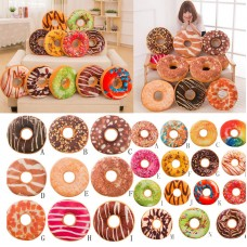 Soft Plush Throw Pillow Seat Pad Foods Sweet Donut Cushion Cover Case For Kids   192441218918
