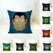 Superman Iron Man Batman Square Home Decor Pillow Case Sofa Seat Cushion Cover   162925342890