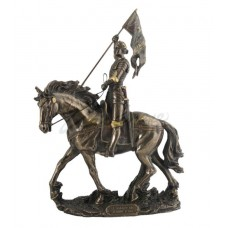 Joan Of Arc On Horse Back with Flag Statue Sculpture *GREAT HOLIDAY GIFT!   223103163958