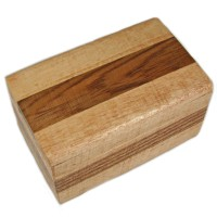 Decorative Small Wood Trinket Box With A Striped Pattern   222269019962
