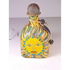 Handmade Painted Lighted Decorated Patron Bottle Sunshine Let Your Light Shine     183334938446