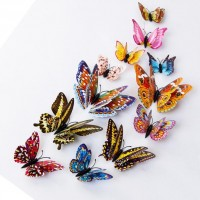 12pcs 3D Butterfly Design Decal Art Wall Stickers Room Magnetic Home Decor   132437021218