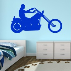 CHOPPER MOTORCYCLE HARLEY MOTORBIKE Vinyl wall art room sticker decal stencil   290953388365