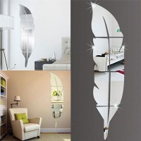 DIY Removable Home Mirror Wall Stickers Decal Art Vinyl Room Decor Feather Fun   142867195558